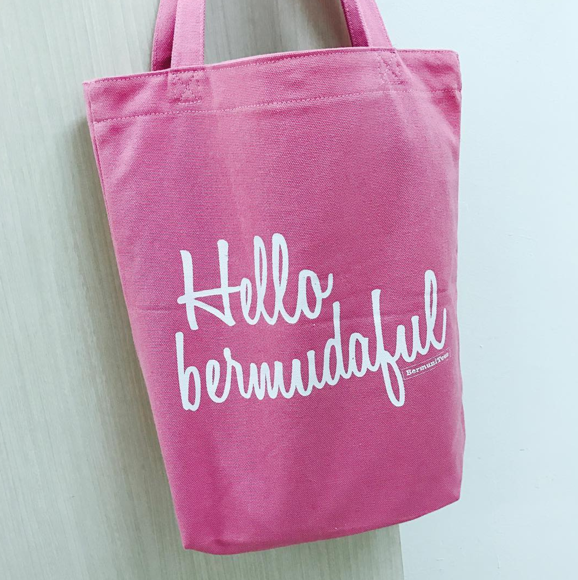 customise light pink canvas bag printing