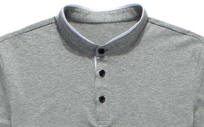 mandarin collar polo t shirt