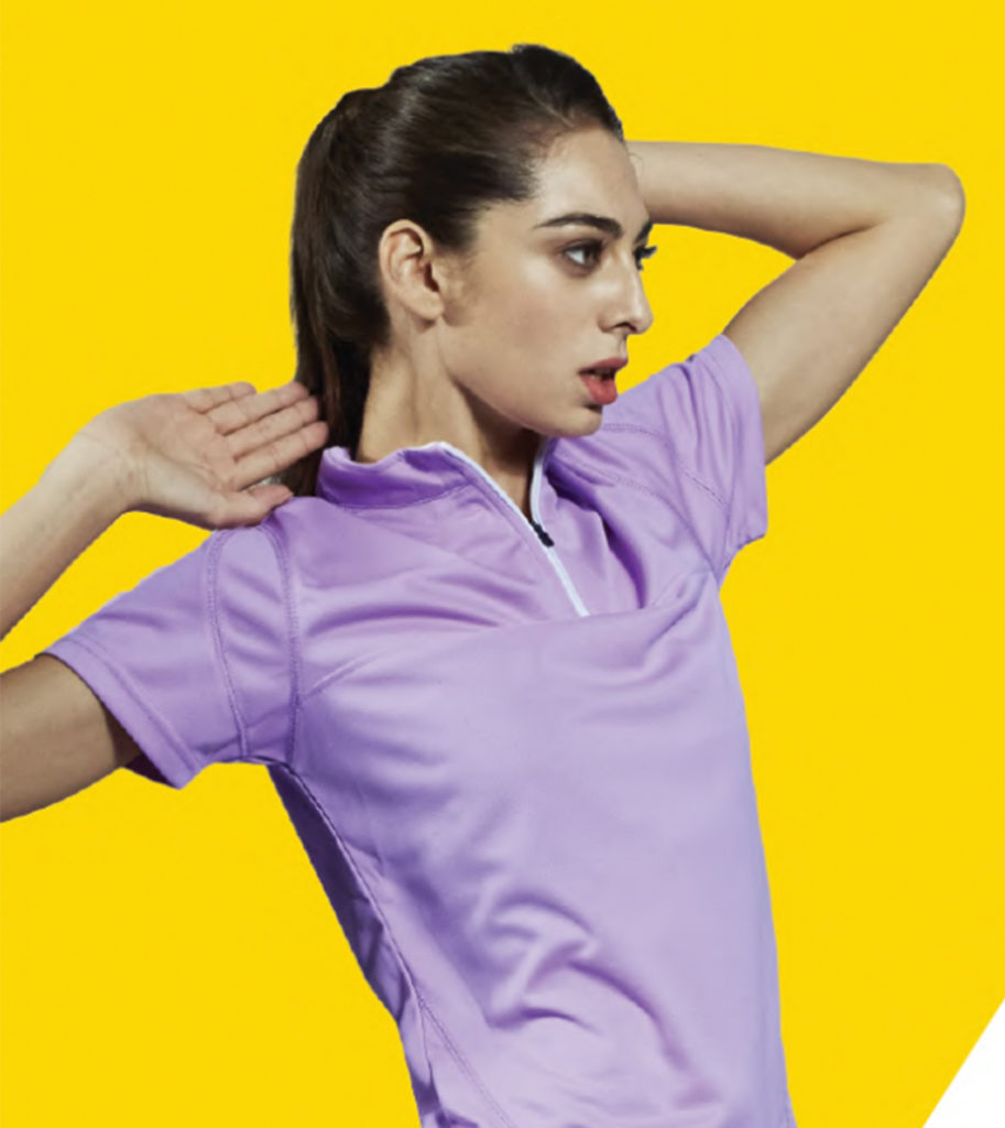 zipped collar polo