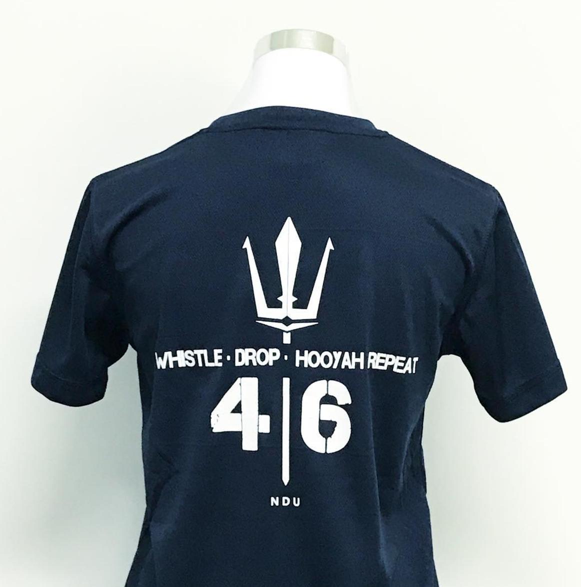 Customise ladies microfibre black t-shirt