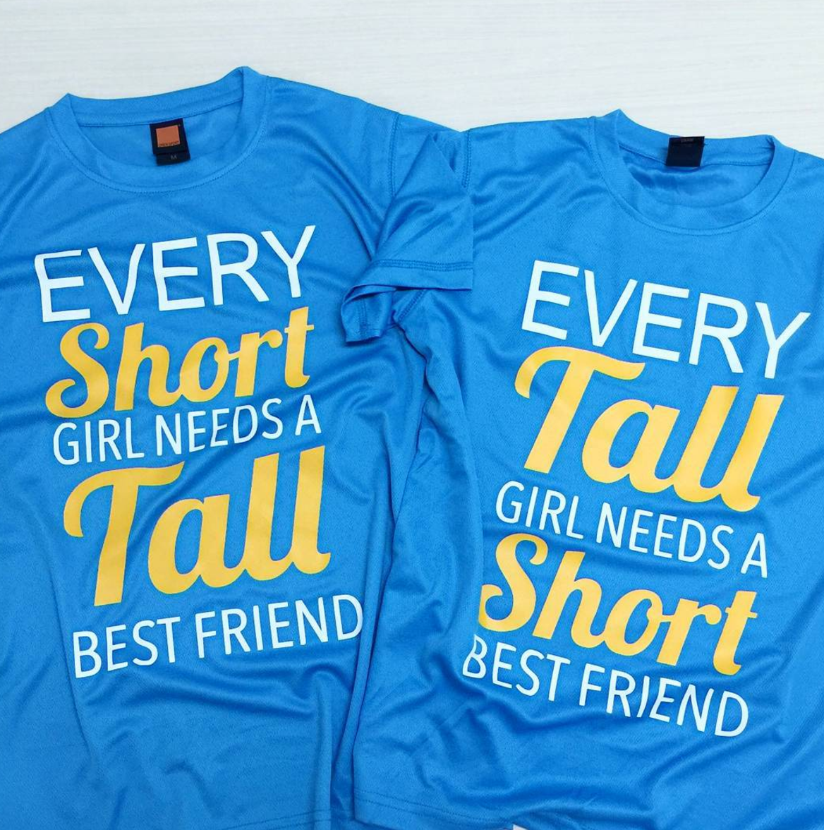Customise ladies microfibre blue t-shirt