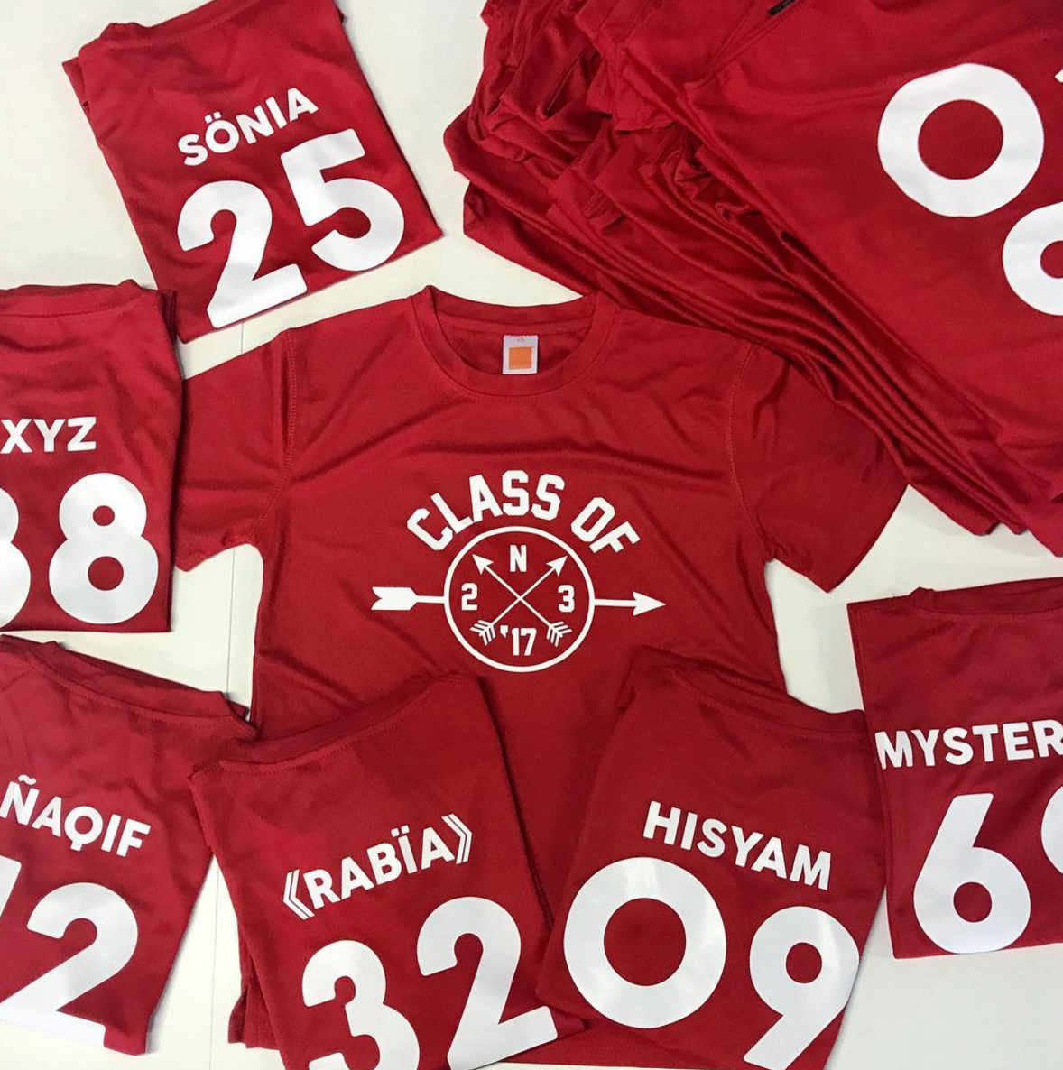 Customise cotton red t-shirt