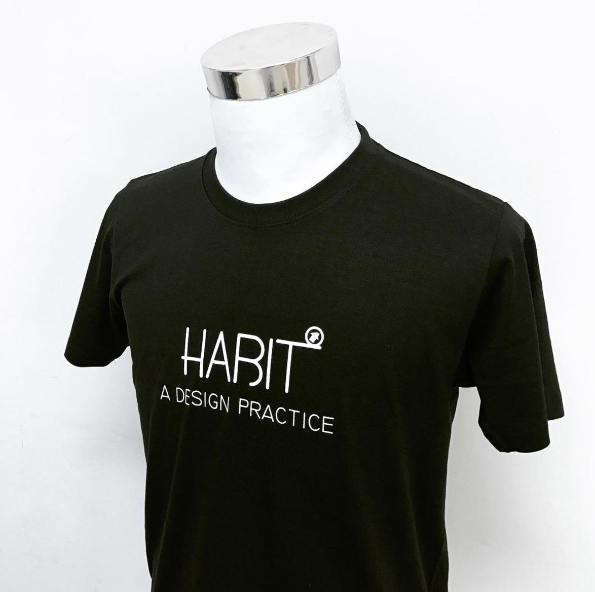 Customise cotton black t-shirt
