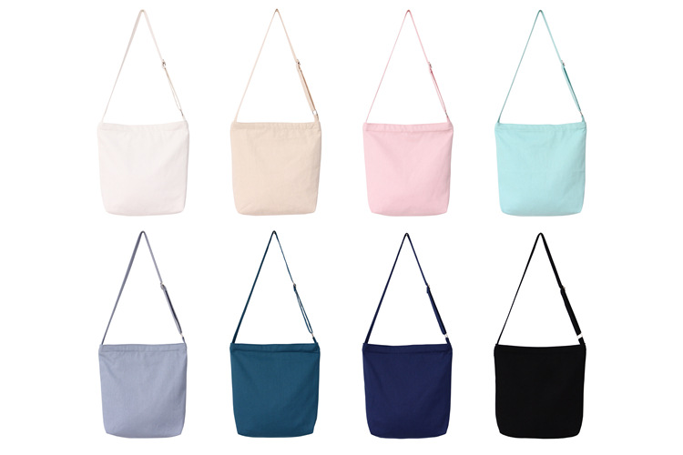 Two way strap canvas sling bag colours
