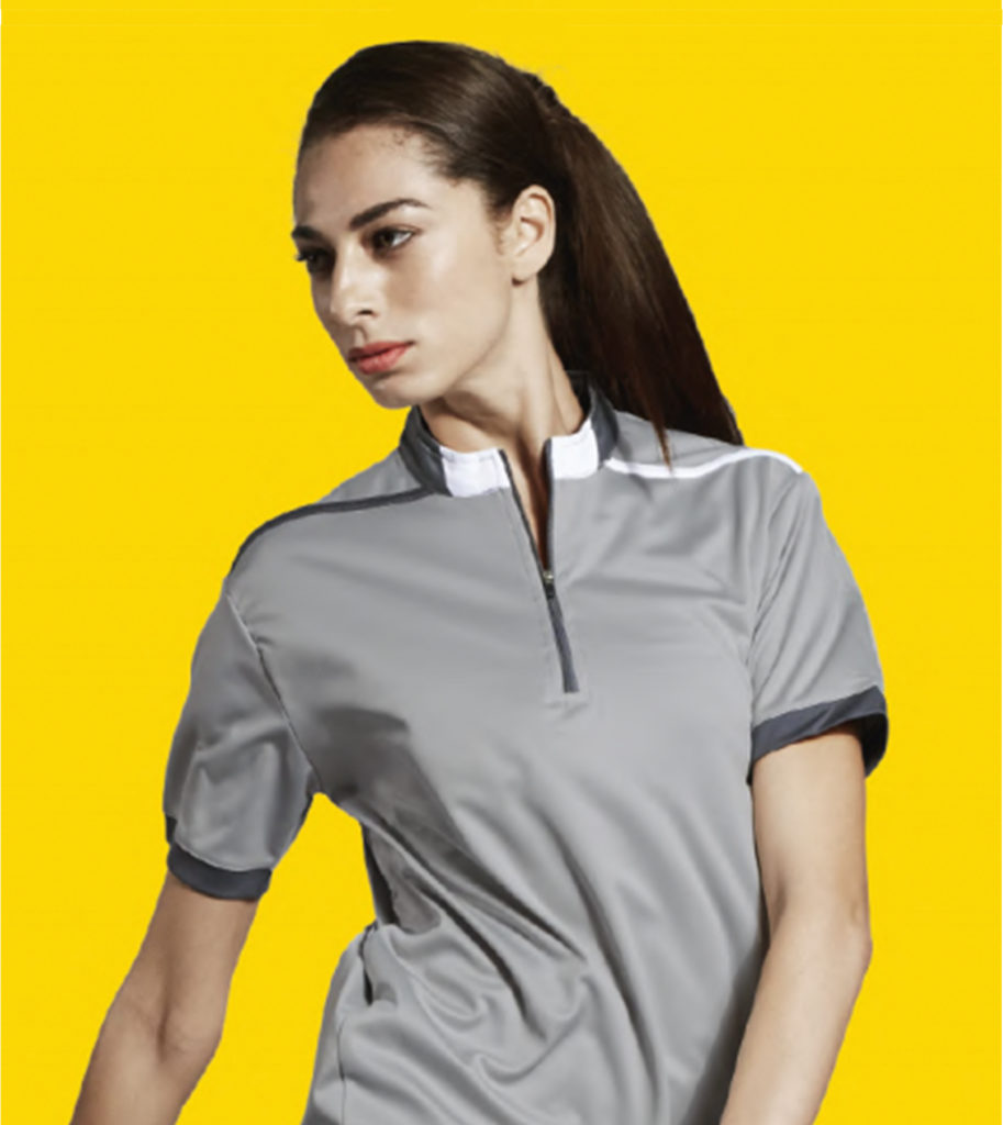 drifit zipper collar polo tshirt