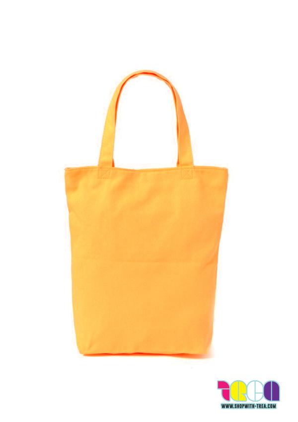 Premium warm yellow canvas bag printing