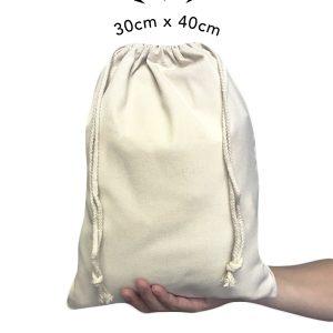custom large drawstring pouch
