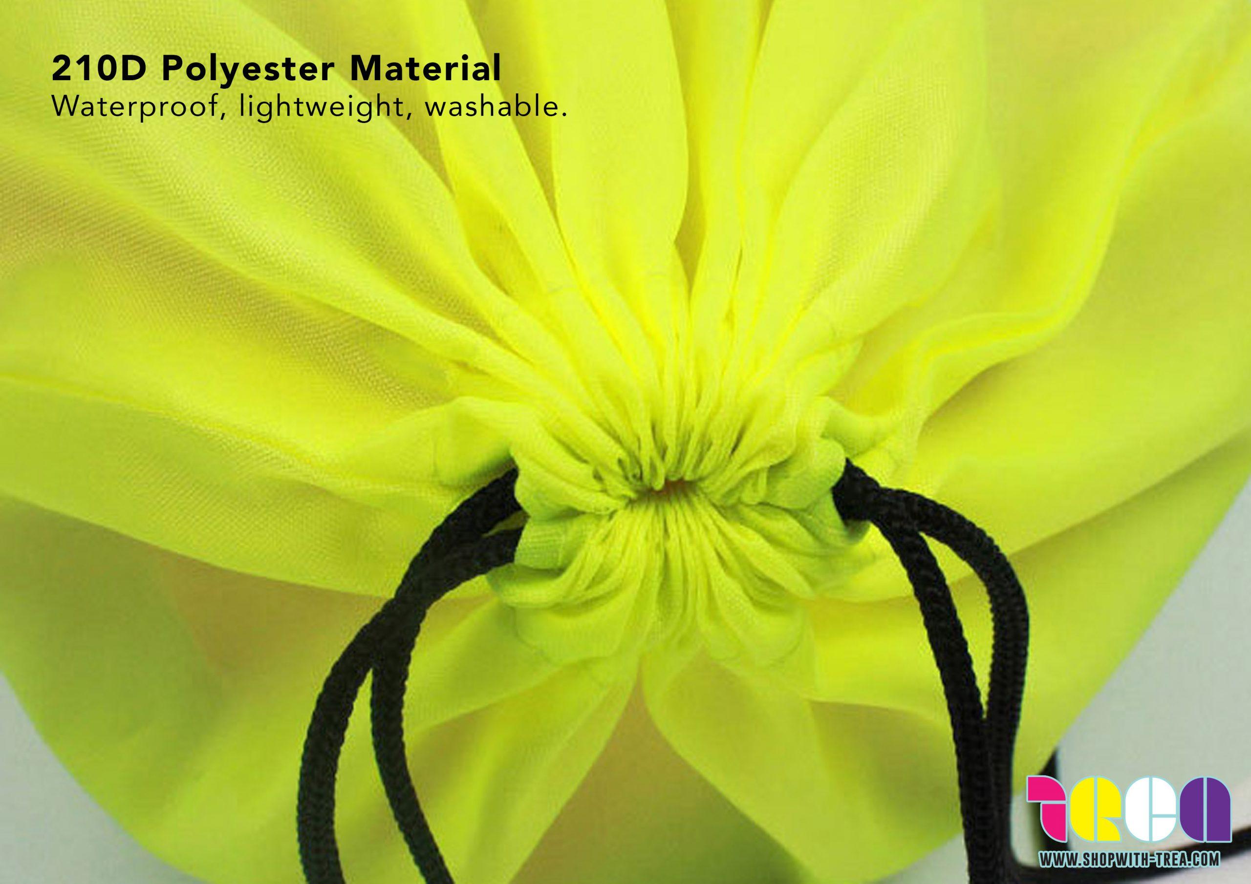 Polyester nylon Drawstring bag material