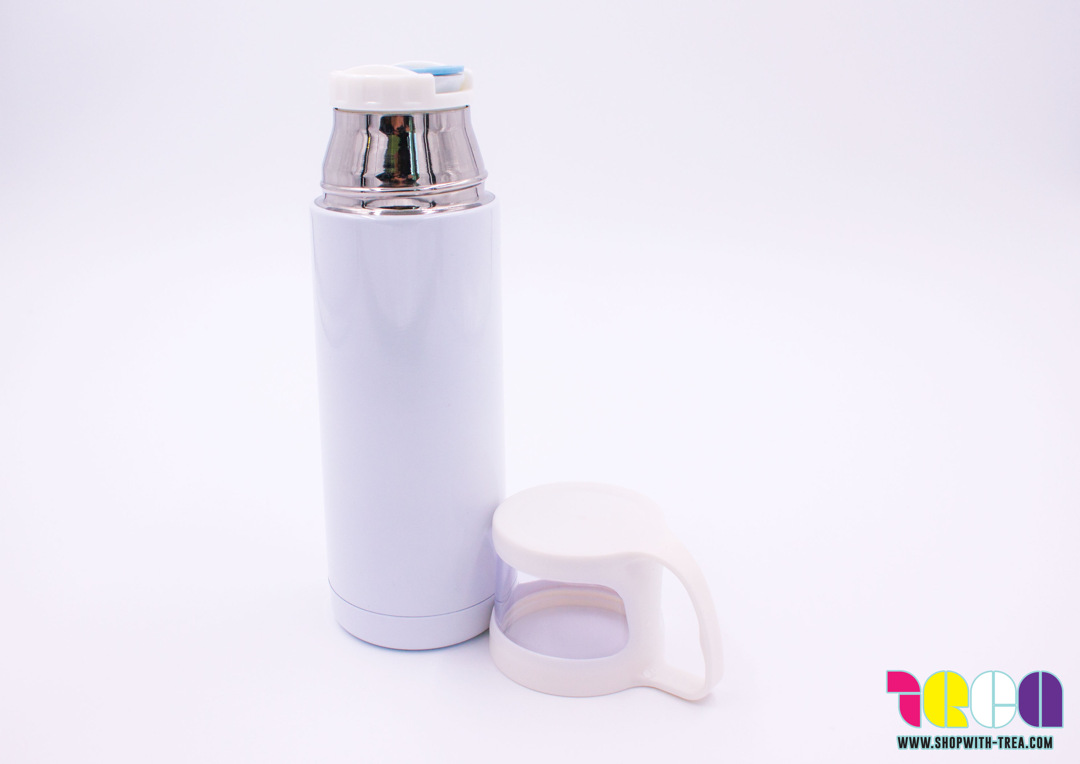 thermos flask with cup