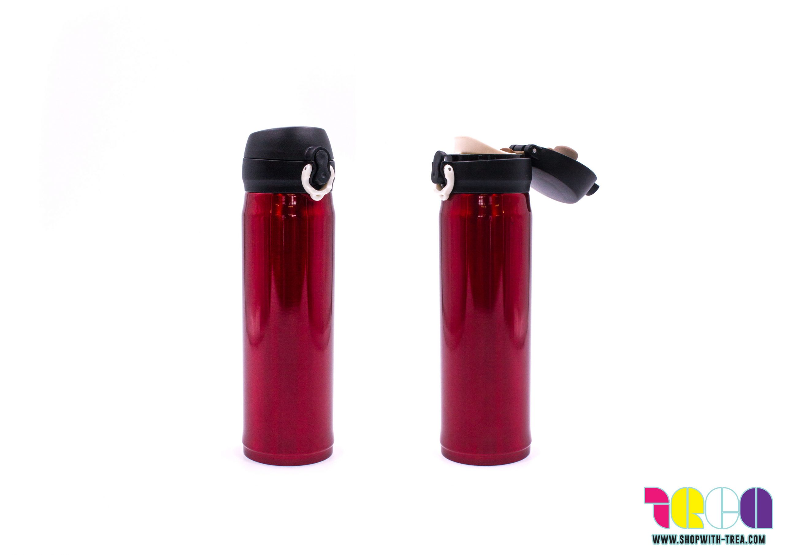 vacuum flask with pu pouch