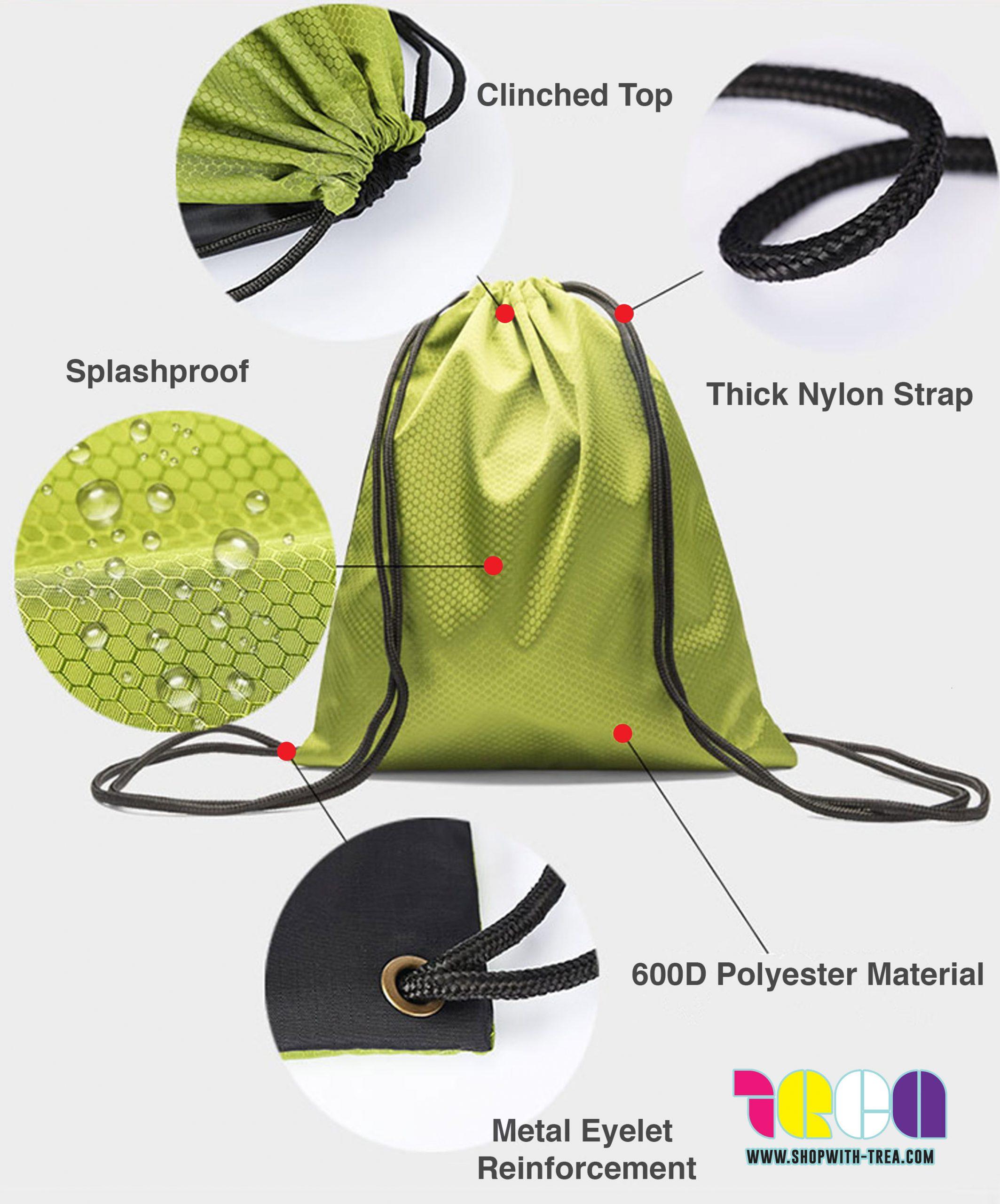 nylon polyester drawstring bags