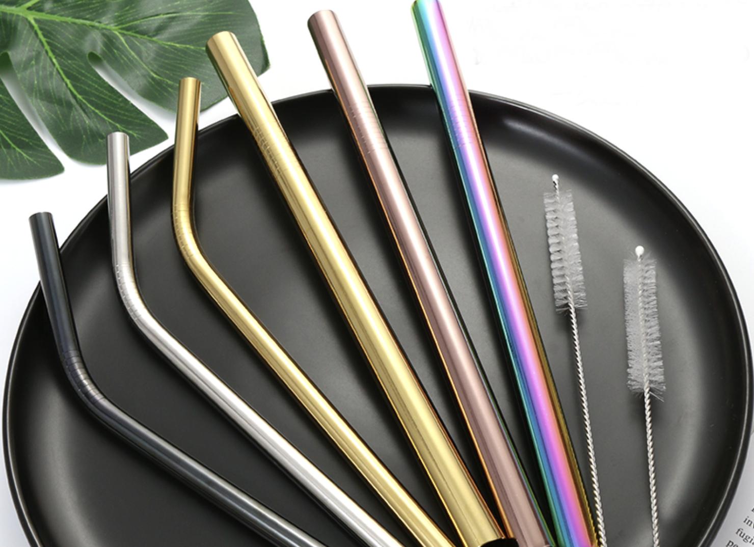 custom stainless steel straw