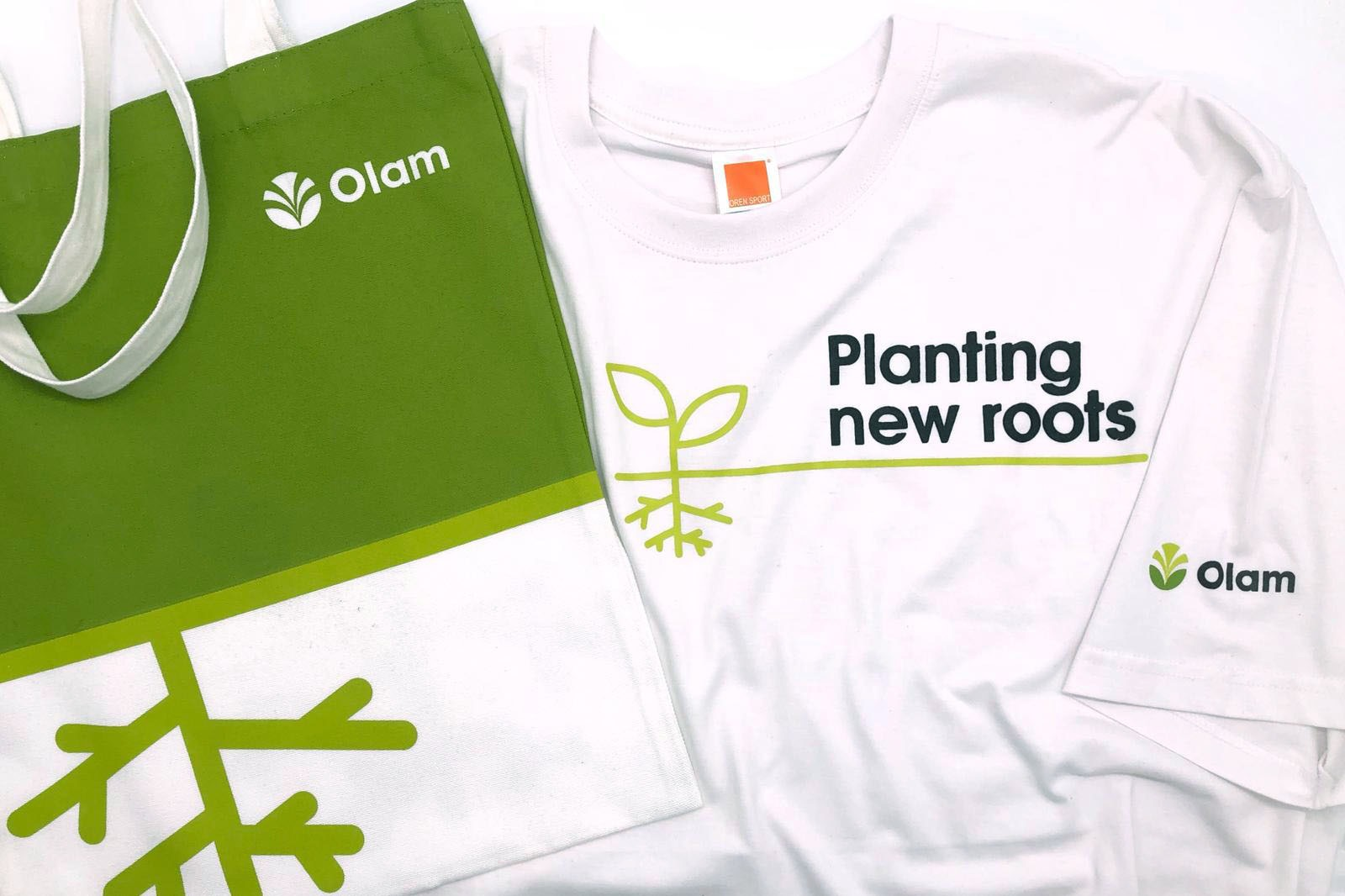 Olam Custom Printed Tote Bag and T Shirt