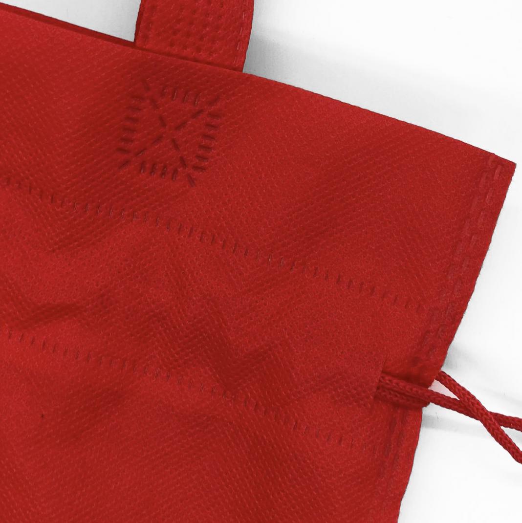 red non woven bag
