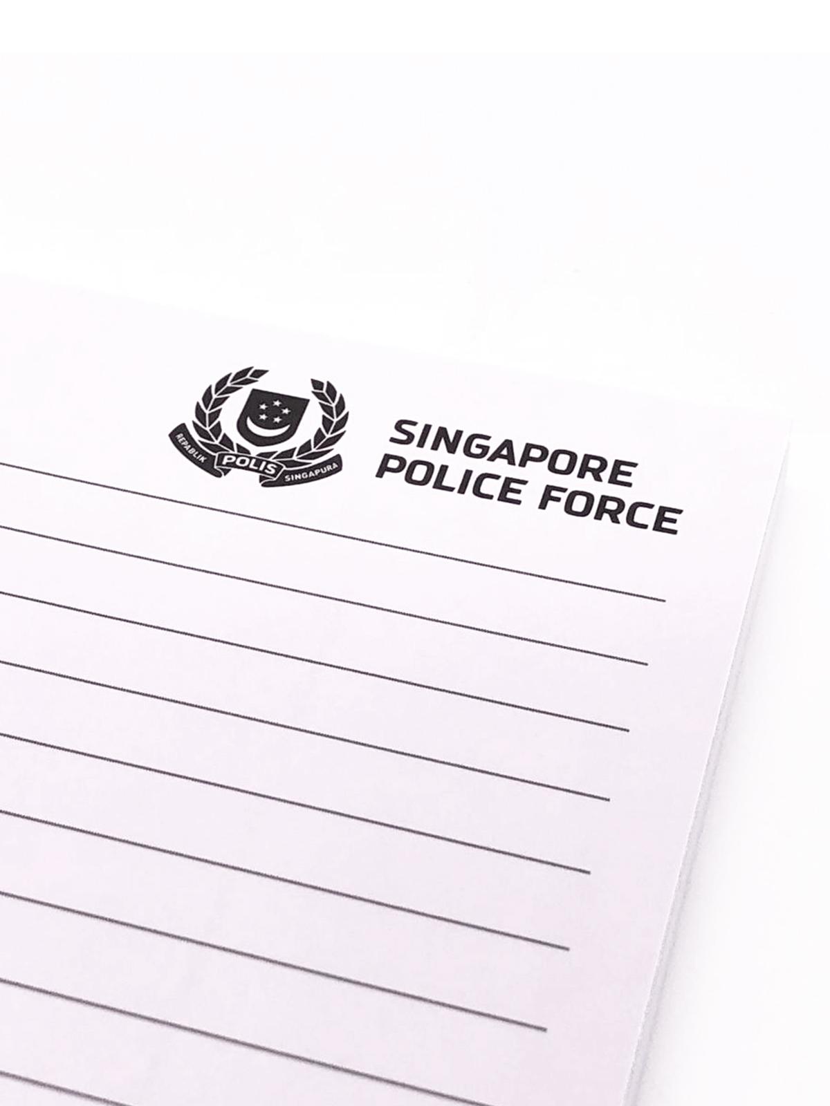 customised foolscap pad