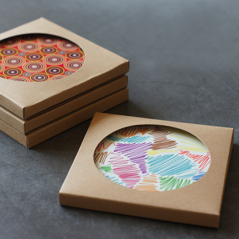 coaster packaging box printing