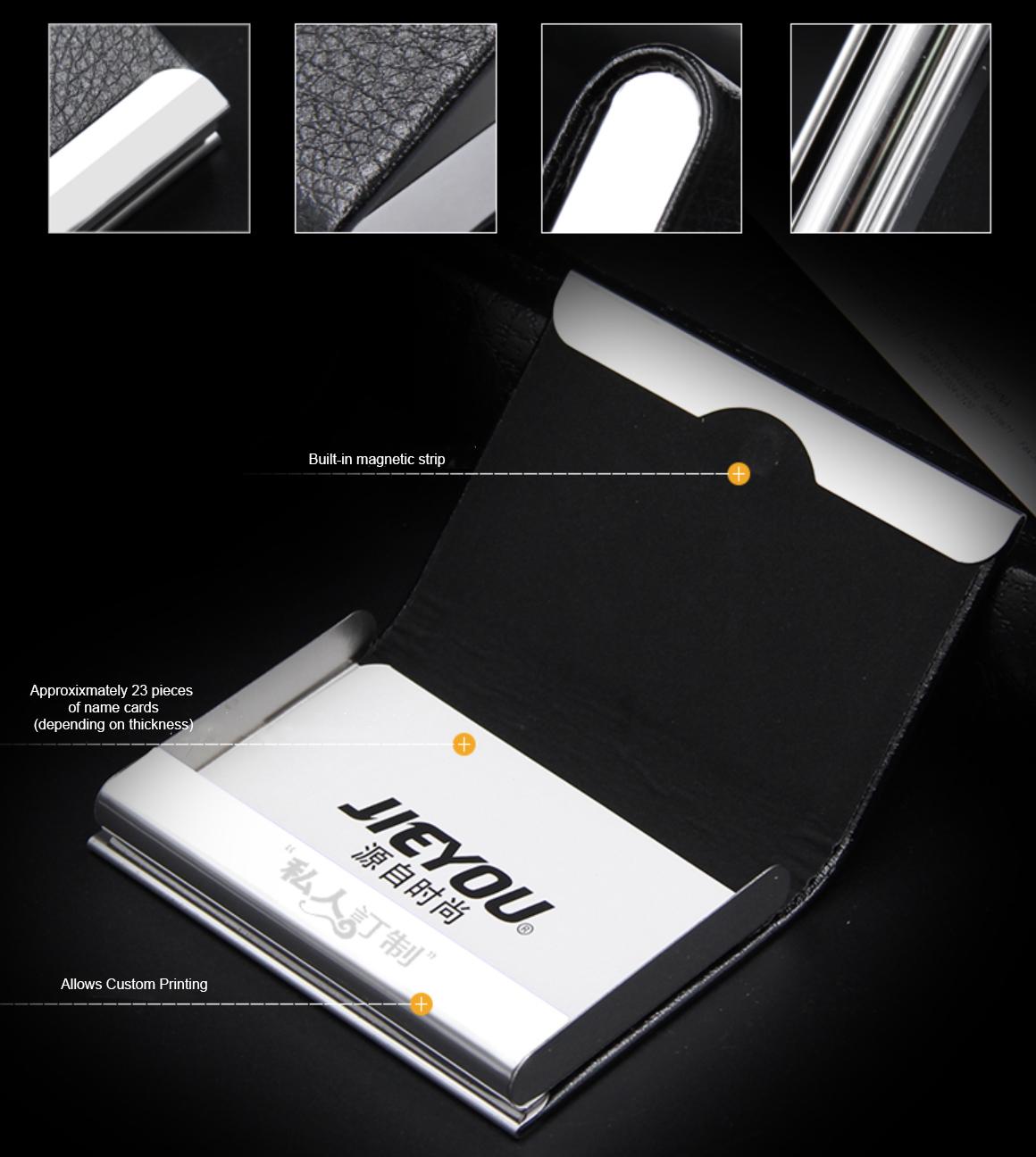 PU leather namecard holder printing