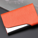 pu leather name card holder printing