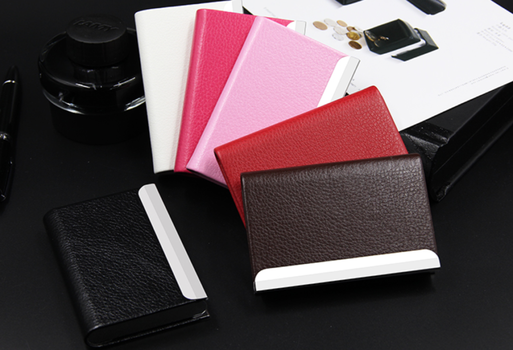 PU leather namecard holder printing