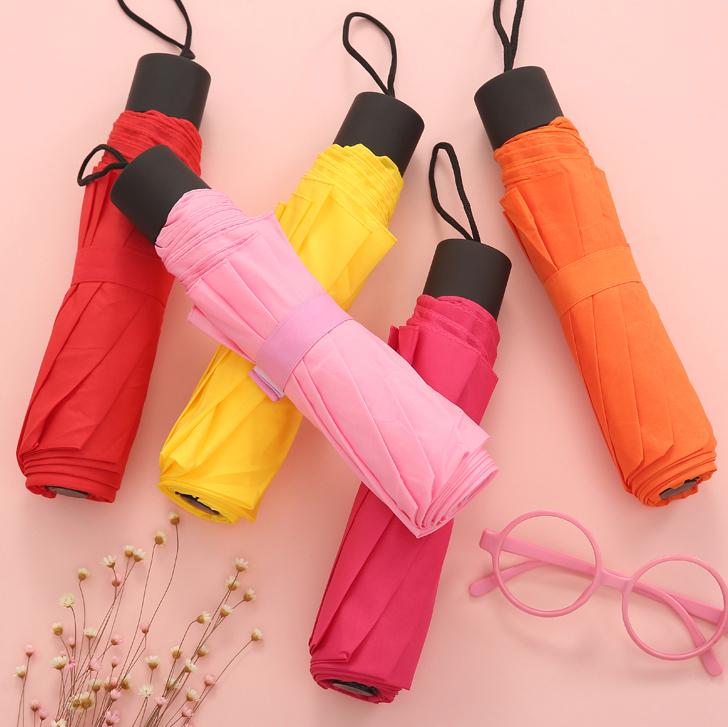 bright coloured umbrella