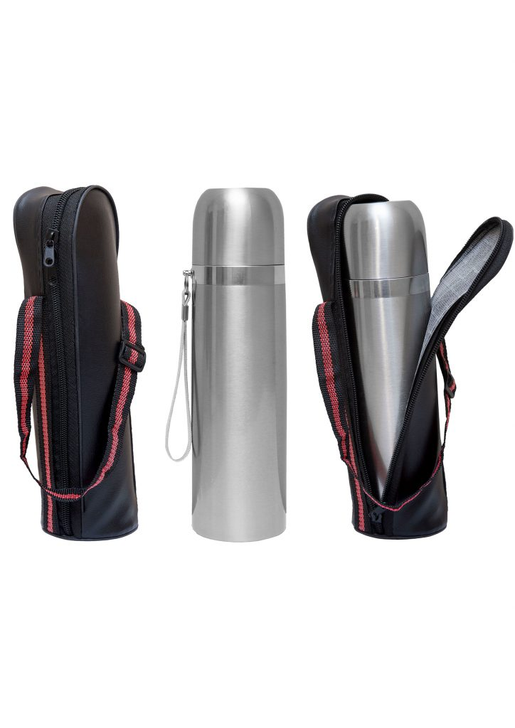 Vacuum Flask with Pouch Printing