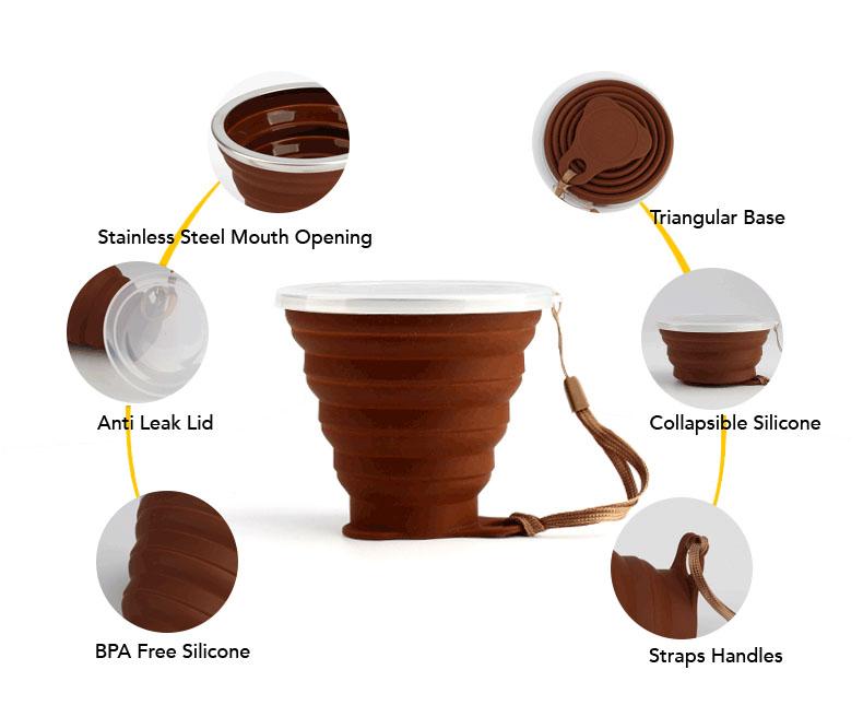 Custom SIlicone Collapsible Mug