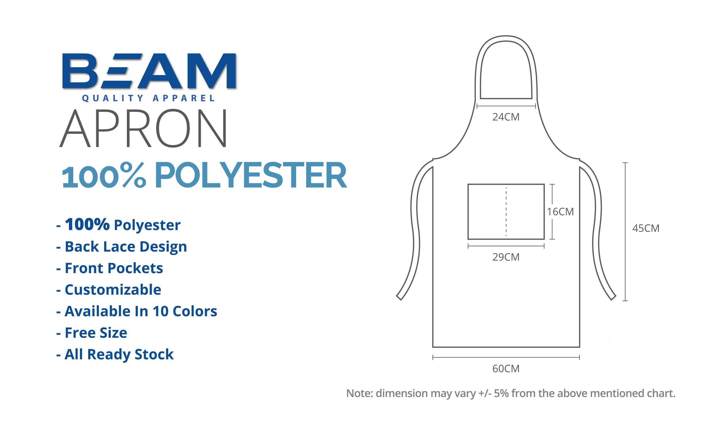 Polyester Apron Printing