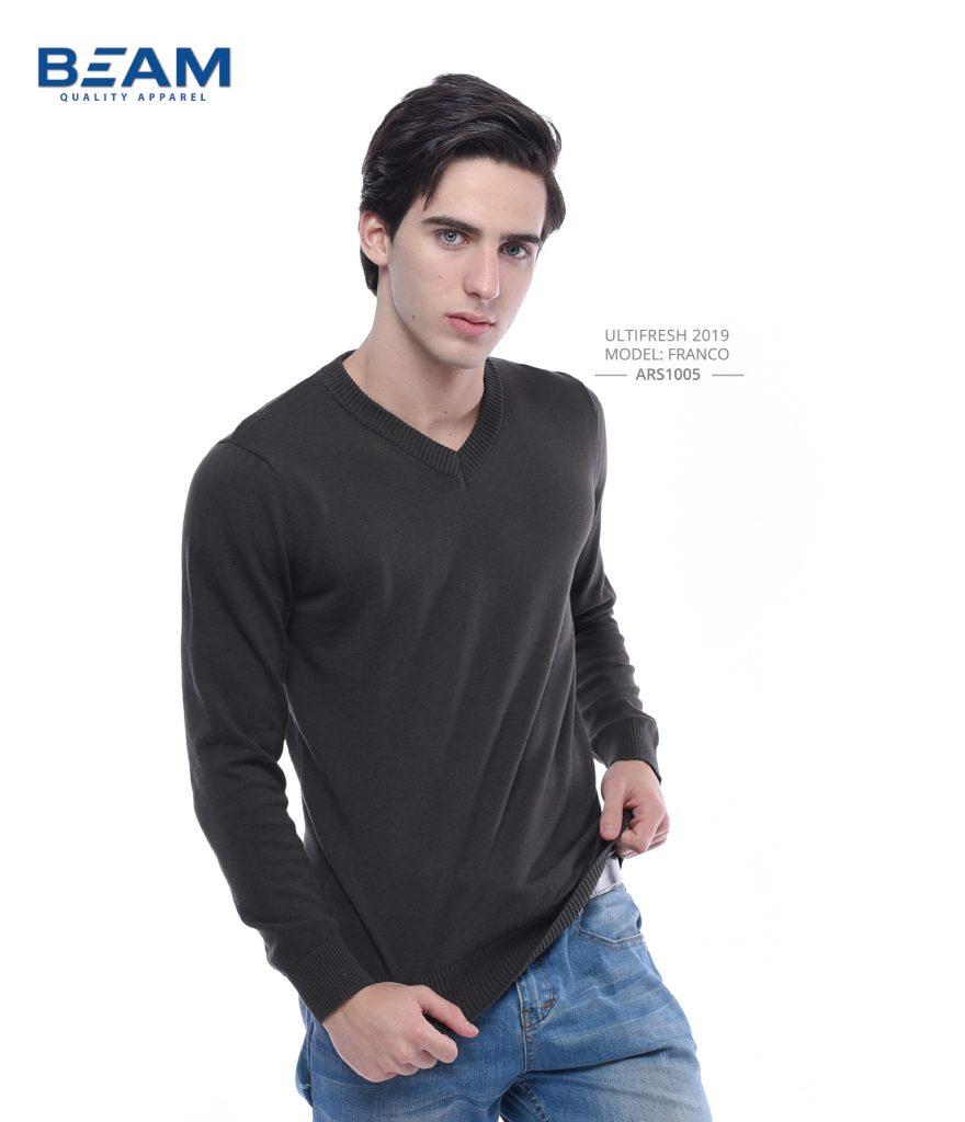 V Neck Sweater Printing