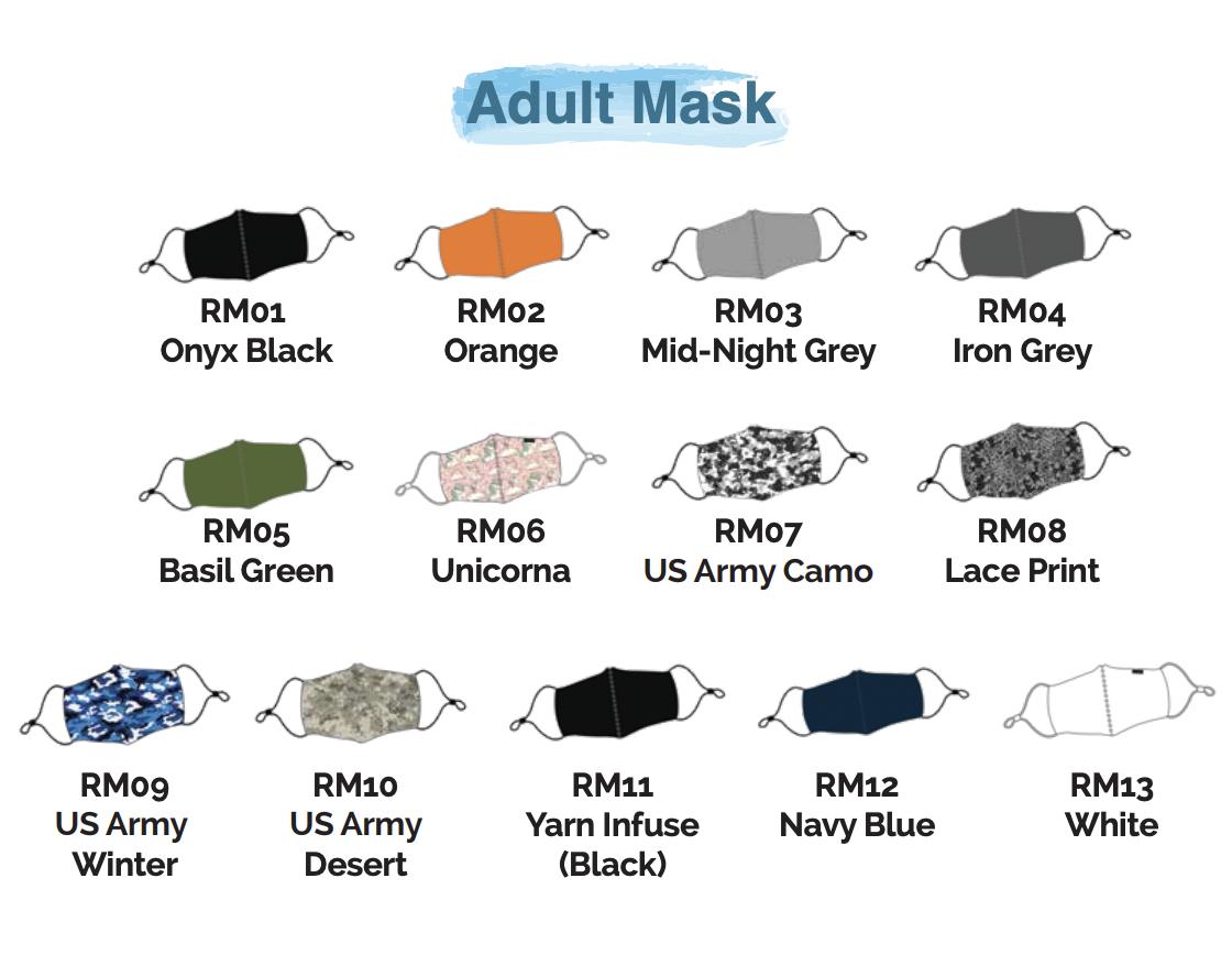Custom Anti-Bacterial Reusable Mask