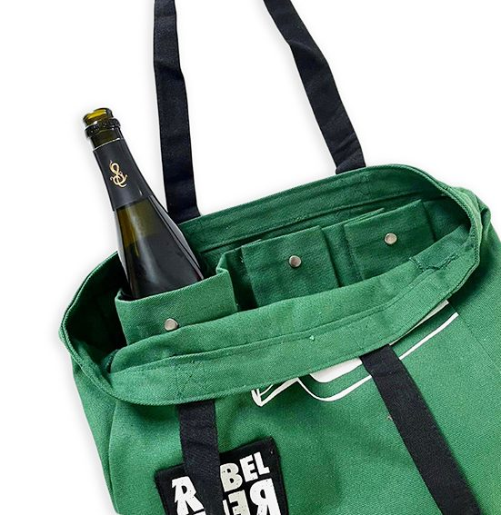 Custom Canvas Bag with Bottle Compartment
